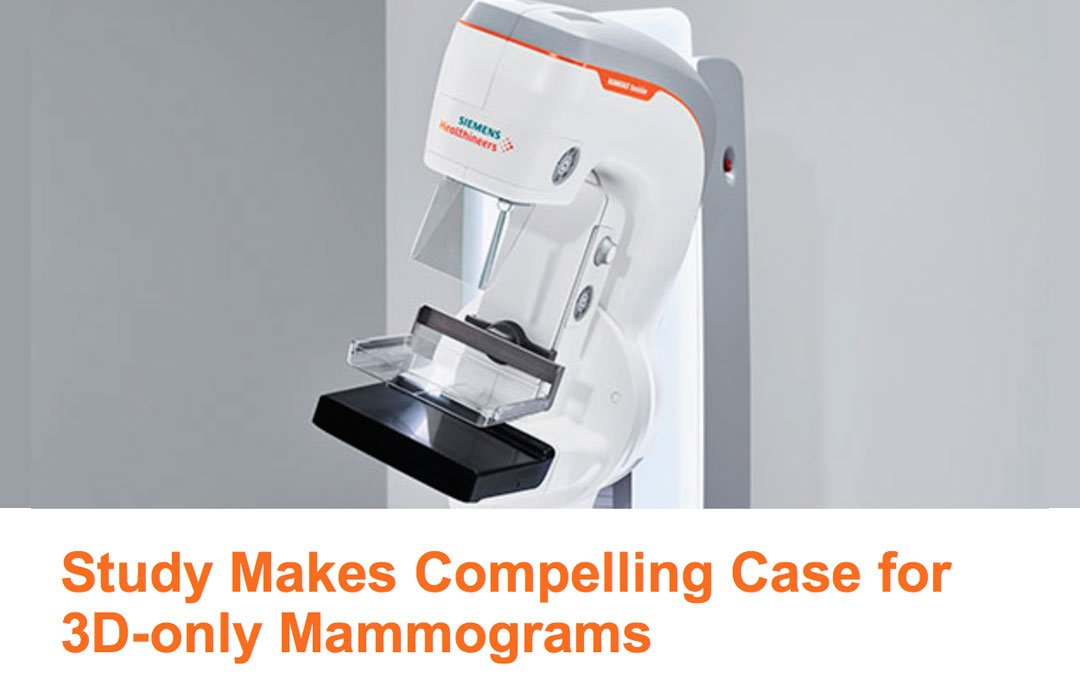 Estudio contundente a favor de Mamografías sólo 3D.