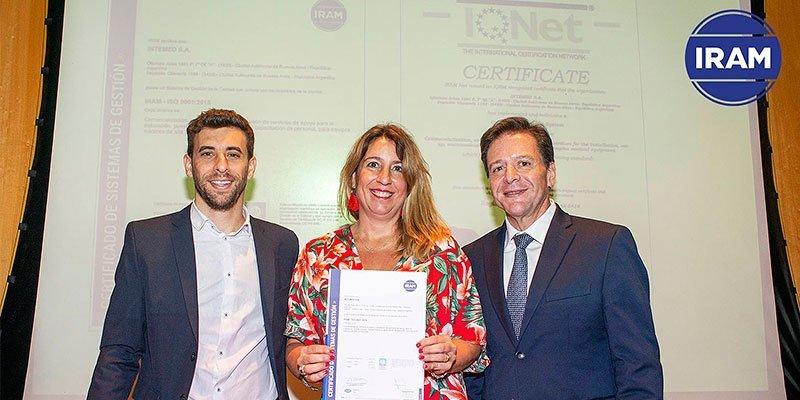 IRAM : Entrega de Certificados por la Recertificación de ISO 9001: 2015